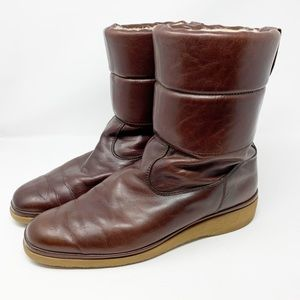 BALLY of Switzerland Leather Fleece Lined Boots